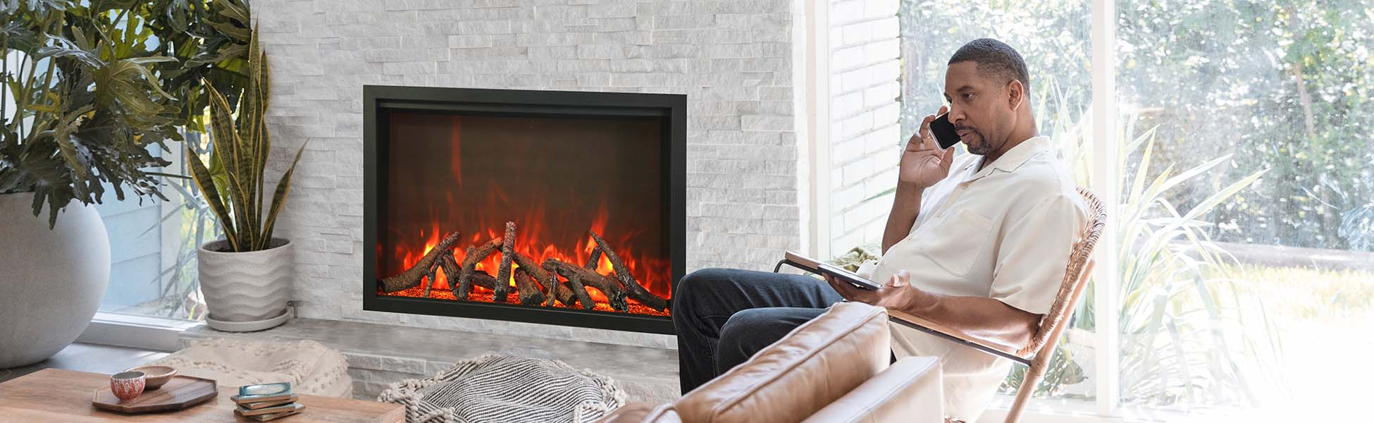 TRD Electric Fireplace by Amantii